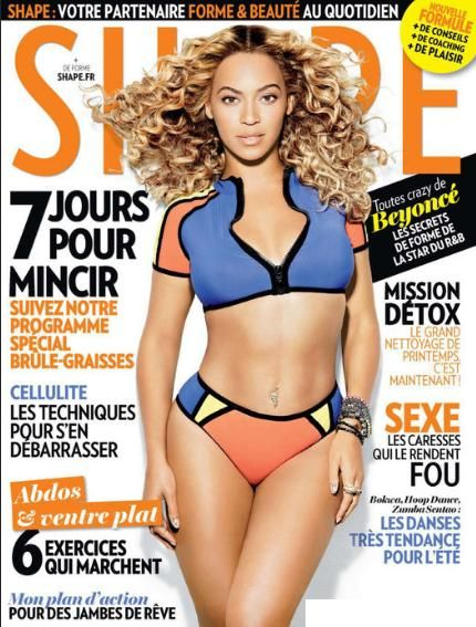 Beyonce- Shape France June 2013