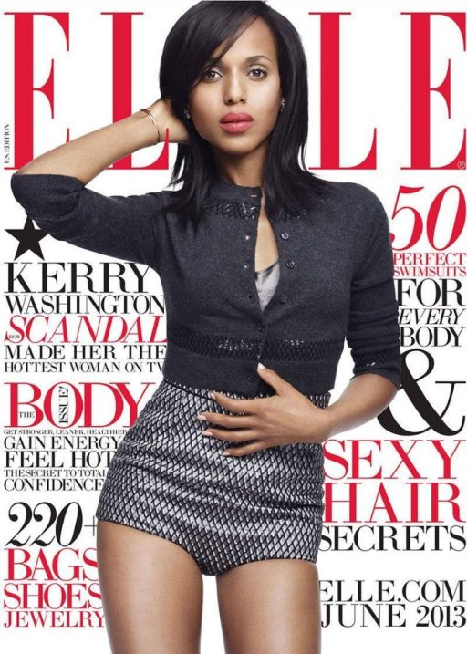 Kerry Washington- Elle June 2013