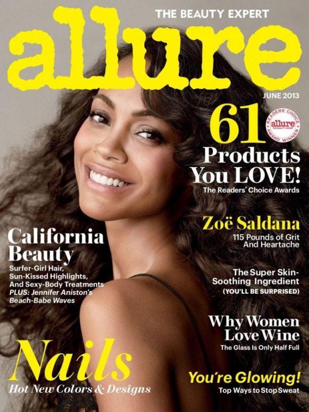 Zoe Saldana- Allure June 2013