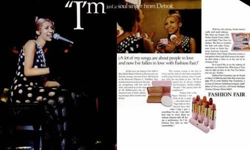 Aretha Franklin model_Ebony Fashion Fair_print ad