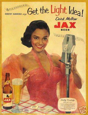 Dorothy Dandridge model photo Jax beer print ad