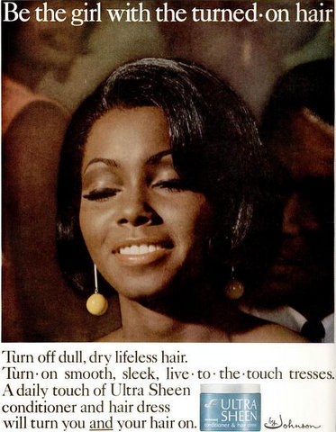 Legendary Judy Pace model in Ultra Sheen print ad