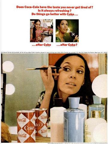 Carmen de Lavallade coca cola model print ad 1967