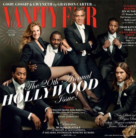 Brie Larson, Chadwick Boseman, George Clooney, Idris Elba, Jared Leto, Julia Roberts, Léa Seydoux, Lupita Nyong'o, Margot Robbie, Michael B. Jordan, Naomie Harris, and Chiwetel Ejio for VANITY FAIR (US Edition)