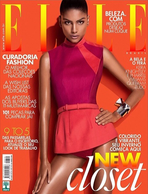 Model Carolinne Prates for ELLE Magazine (Brazil Edition)
