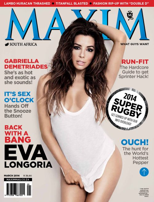 Eva Longoria for MAXIM Magazine (South African Edition