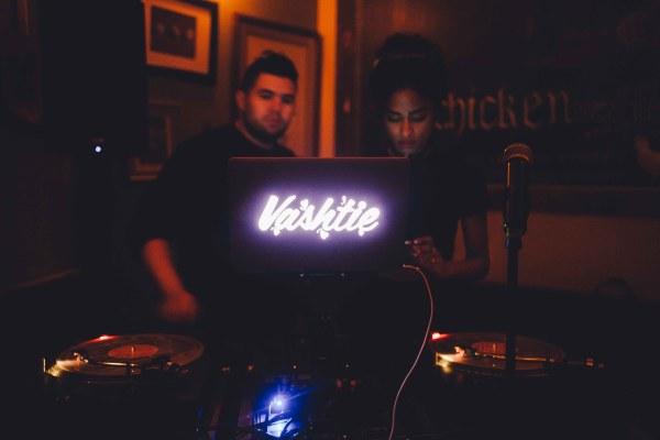 DJ Vashtie at Sweet Chick Restaurant Party