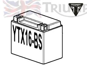 Triumph Tiger Batterie Ytx16 Bs Mf