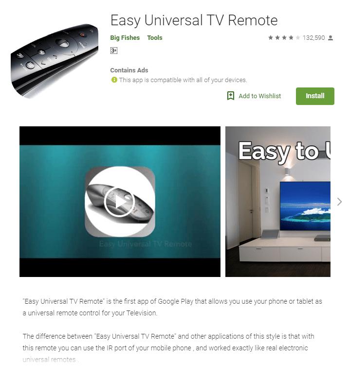 Easy Universal TV Remote