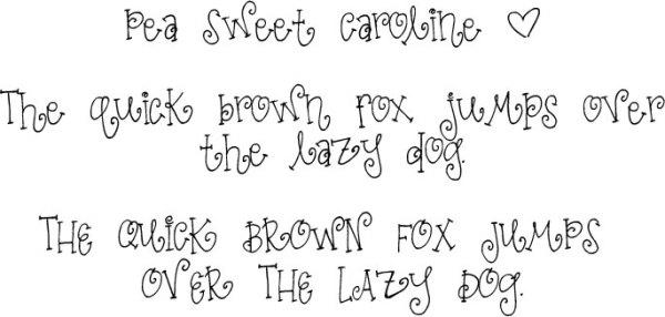 sweet pea font # 15