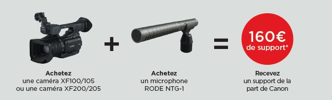 Offre Canon XF100/105 et XF200/205