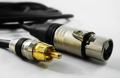 CORDON AUDIO XLR 3BR F / RCA M - 1m
