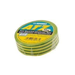 TAPE PVC ISOLATION 19MM X 20M AT7 ''BARNIER'' JAUNE-VERT
