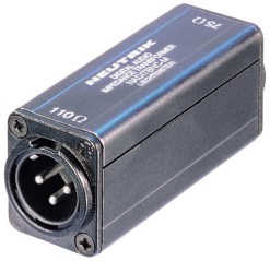 CONVERTISSEUR AES/EBU/SPDIF 110/75 OHMS XLR M / BNC F