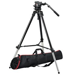 KIT TREPIED MANFROTTO NOIR + ROTULE ET SAC