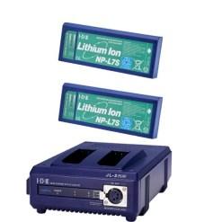 IDX 2 Batteries NP1 L & Chargeur Double - Kit Batteries et Chargeur