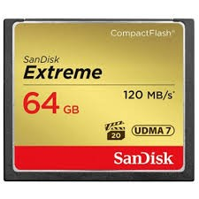CARTE COMPACT FLASH 64 GO SANDISK EXTREME