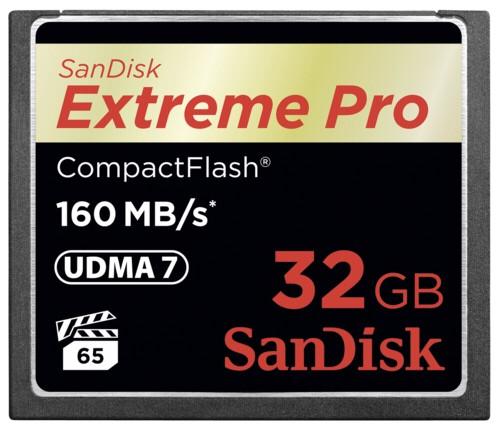 CARTE COMPACT FLASH 32 GO SANDISK EXTREME PRO