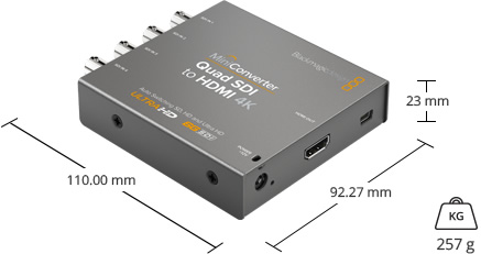 Blackmagic Design Mini Converter Quad SDI to HDMI 4K - Convertisseur