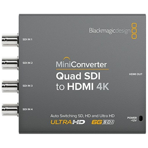 Blackmagic Design Mini Converter Quad SDI to HDMI 4K - Convertisseur
