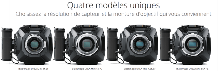 Blackmagic Design URSA Mini 4K Monture EF - Caméra