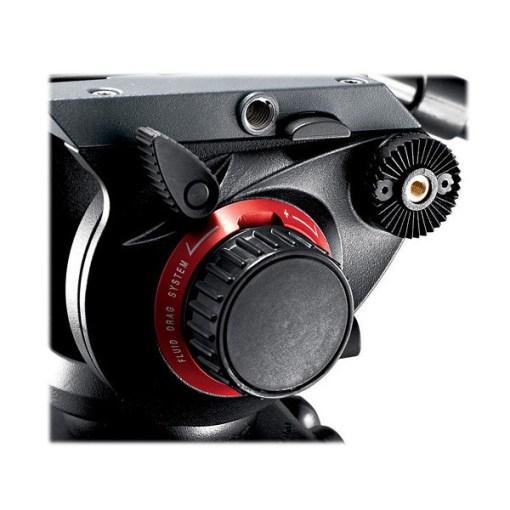 Manfrotto 504HD + Entretoise 546GBK + Sac - Kit Trépied et Rotule Vidéo