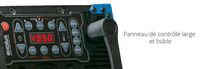 PANNEAU LED EXALUX ROCK AVEC ALIM V-LOCK