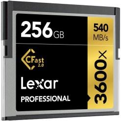 CARTE CFAST 256Go 2.0 3600X LEXAR Pro