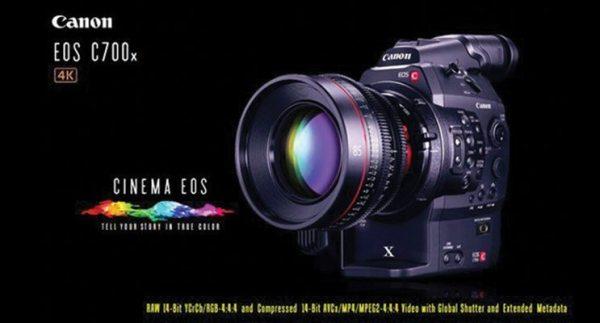 CANON EOS C700 : trois nouvelles caméras EOS Cinéma 4K haut de gamme