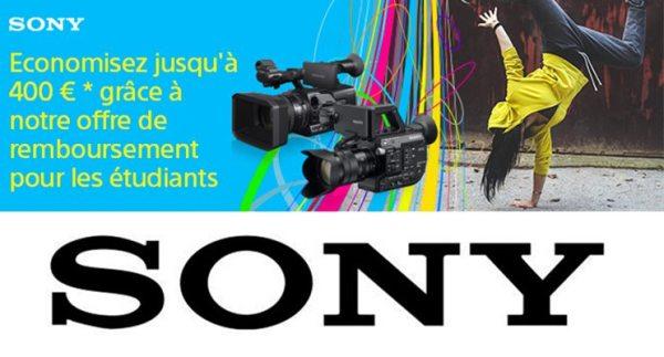 SONY rembourse les étudiants jusqu'à 400€ !