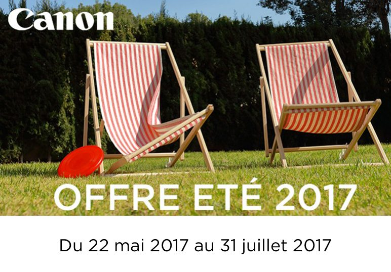 Offre Canon Eté 2017