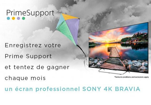Garantie Prime Support Sony