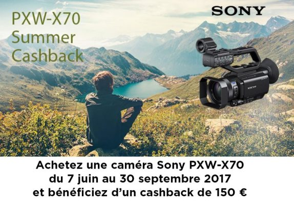PXW-X70 Promotion Summer Cashback