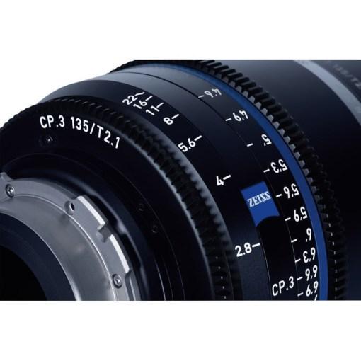 ZEISS CP.3 135mm T2.1 (Nikon F, imperial) - Objectif Prime Cinéma