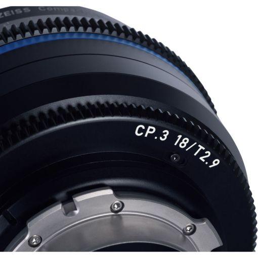 ZEISS CP.3 15mm T2.9 (PL, imperial) - Objectif Prime Cinéma
