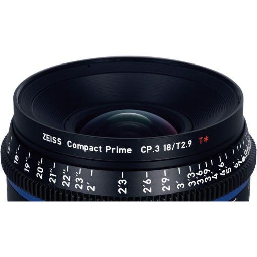 ZEISS CP.3 18mm T2.9 (Sony E, métrique) - Objectif Prime Cinéma