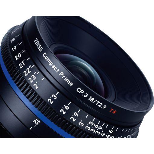 ZEISS CP.3 18mm T2.9 Monture PL Métrique - Objectif Prime