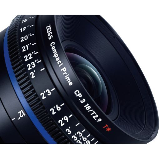 ZEISS CP.3 18mm T2.9 (PL, métrique) - Objectif Prime Cinéma