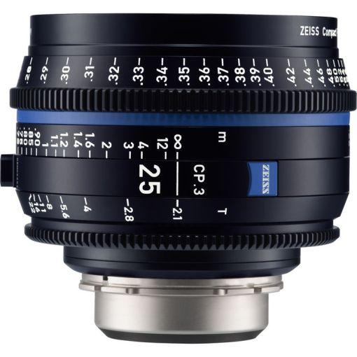 ZEISS CP.3 25mm T2.1 Monture PL Métrique - Objectif Prime