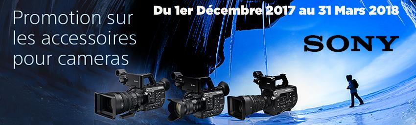 Promotion Cashback accessoires pour caméras Sony