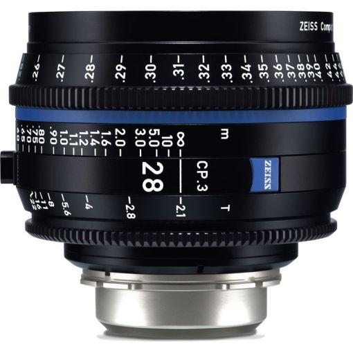 ZEISS CP.3 28mm T2.1 (PL, métrique) - Objectif Prime Cinéma
