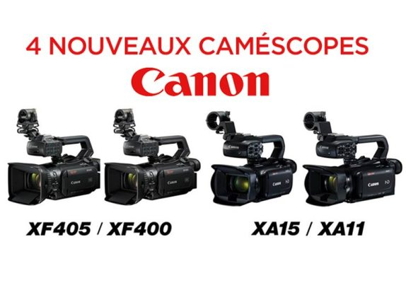 Lancement de 4 nouveaux caméscopes Canon !