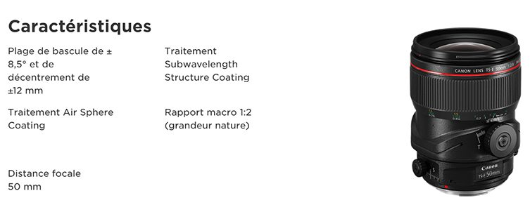 Canon EF TS-E 50MM F/2.8L MACRO - Objectif