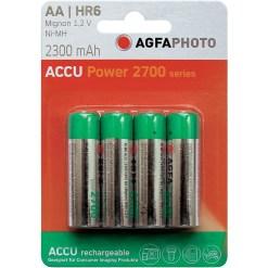 PACK DE 4 PILES AGFA LR06 RECHARGEABLES