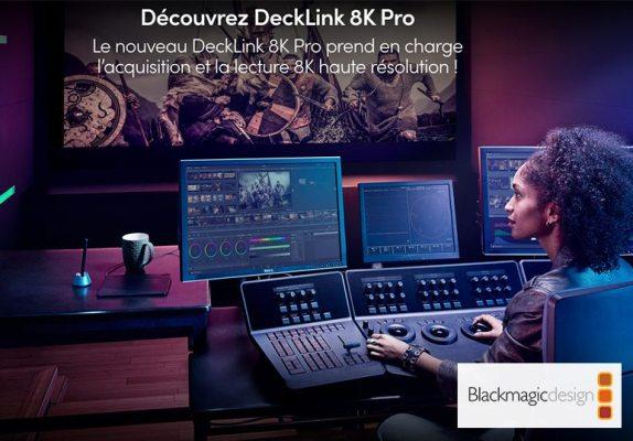 Blackmagic Design révèle le DeckLink 8K Pro