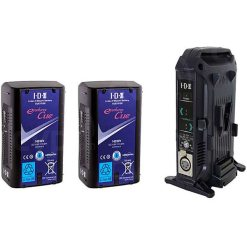 IDX 2 Batteries Endura CUE-D150 & 1 Chargeur VL-2X - Kit Batteries et Chargeur