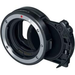 Bague d'adaptation Canon EF vers EOS R avec un filtre à densité neutre variable V-ND