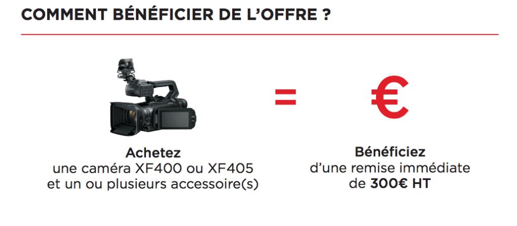 comment beneficier de l'offre canon xf400