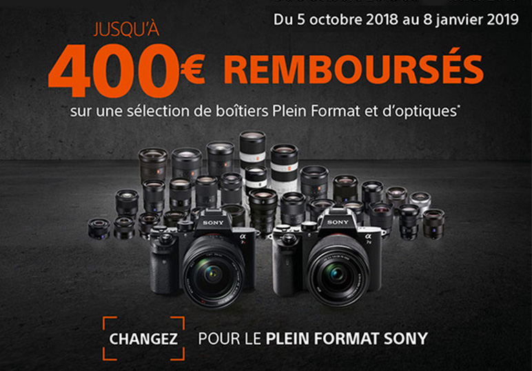 Offre Boitiers Plein Format Optiques SONY Hiver 2018