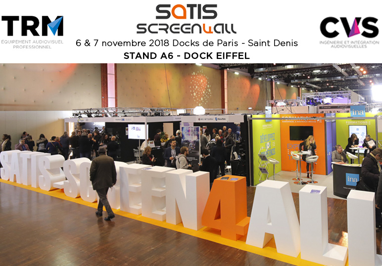 TRM vous accueille au SATIS stand A6 Dock Eiffel